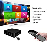 Ocamo 2.4GHz Air Mouse Remote Control with Wireless Keyboard Gyro Mouse IR Learing for Android TV Box Laptop PC Projector