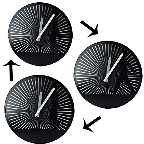 Joyfay Animated Wall Clock- Walking Man Clock, Kinetic Zoetrope Animation, Silent Non-Ticking 12 Inch Retro Timepiece, Black with Black Illustrated Man, a Product