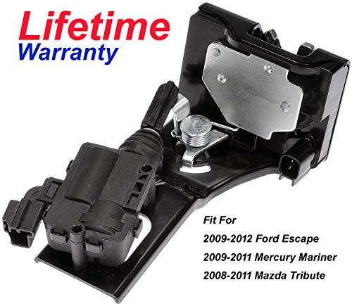 HY-SPEED 719-102 Trunk Liftgate Rear Hatch Tailgate Door Lock Actuator Motor Tailgate Latch Assembly For 2009-2012 Ford Escape 2009-2011 Mercury Mariner 2008-2011 Mazda Tribute 9L8Z-7843150-B 937-663 (Hatch Motor)