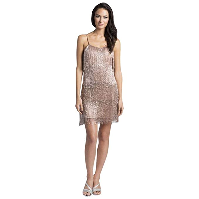 David S Bridal Lara Arianna Beaded Fringe Short Dress Style