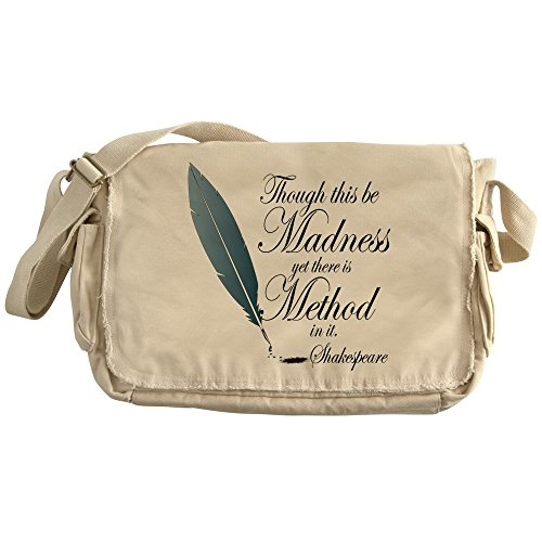 CafePress - Shakespeare Though This Be Madness - Unique Messenger Bag, Canvas Courier Bag by CafePress