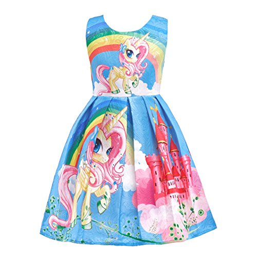 Dressy Daisy Girls My Little Pony Dress Costumes Unicorn Costumes Fancy Dress up Size 4T Blue FC127