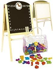 Leomark Tableau Multifonctions Avec Accessoires Tableau Double Face Enfant Tableau Magnétique Tableau En Bois  Jouet Educatif
