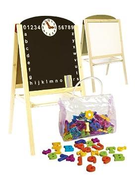 Pizarra Infantil 2 En 1 Para Pintar Pizarra Magnética De Madera Accesorios Tablero Tablero De Dibujo Educación Junta Bandeja De Almacenamiento ...