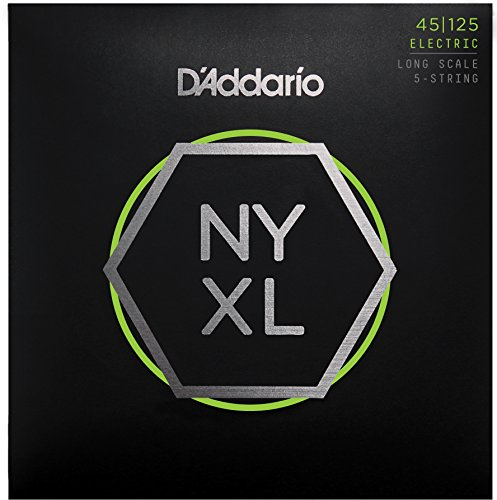 D'Addario NYXL45125 Nickel Wound Bass Guitar Strings, 5-Stri