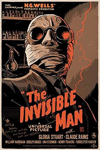 Old Tin Sign The Invisible Man Classic Vintage Movie Poster