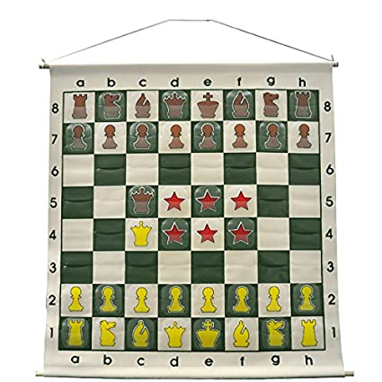 36u0026quot; Demonstration Chess Board   Forest Green