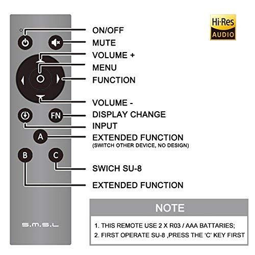 HiFi D/écodeur SMSL SU-8 2ES9038Q2M USB PCM32 768 Khz DSD64 DSD512 DSD Balance DAC D/écodeur