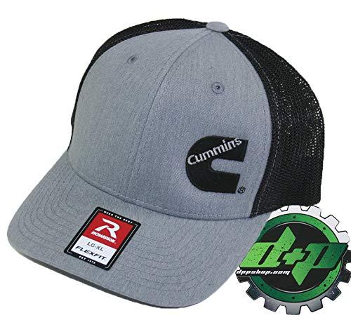 02489534dabde Diesel Power Plus Dodge Cummins Trucker hat Richardson Light Denim Gray  Black mesh Flexfit LG