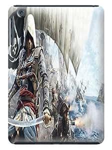 Custom texture desgin tpu skin cover case with cartoon for ipad mini of Assassin's Creed in Fashion E-Mall