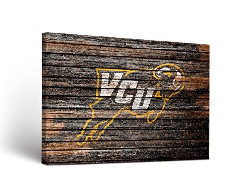 (Victory Tailgate NCAA Virginia Commonwealth University Rams VCU Weathered Design Canvas Wall Art, Multicolor, 18