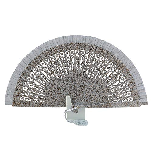 Con Shave Manchas Madera Fan Abanicos Metal Plata Y 7wqx7A