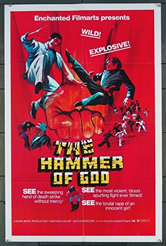 The Hammer Of God (1973) Original U.S. One-Sheet Movie Poster Folded Fine Condition MARTIAL ARTS SHAW BROTHERS PRODUCTION Directed by YU WANG