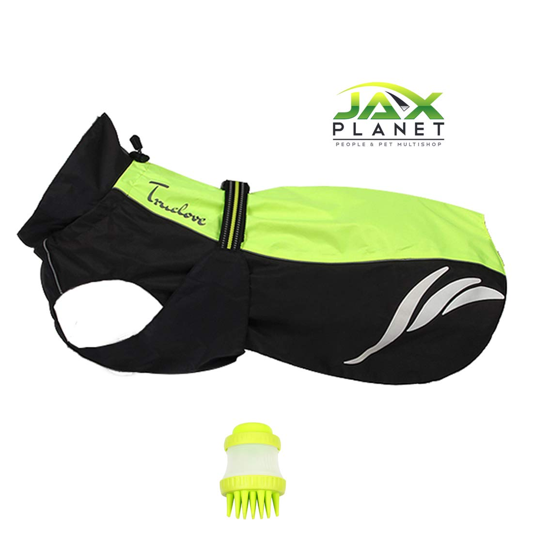 NeonYellow+Black Length 19.7inch 50cm NeonYellow+Black Length 19.7inch 50cm JAXplanet Dog Coat Windproof Waterproof Set[TLCAG2] Stylish Sturdy Safe 3M Reflective Easy On&Off Comfortable Outer Dog Jackets for Small Medium Large Dogs, (Length 19.7inch 50cm,