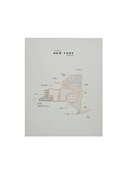 State Map Of New York.Amazon Com Roam By 42 Pressed New York State Map Print Posters