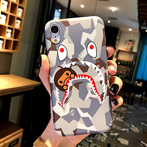FunCase Fanke iPhone XR Case,IMD Sleek Smooth Texture Anti Scratch Non Faded Coloring Premium TPU Slim Fit Soft Cover for 6.1 iPhone-XR with Street Fashion Trend Design (ShaYu Monkey White)