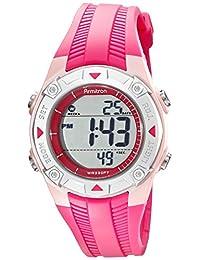 Armitron Sport Women's 45/7052PNK Digital Textured Pink Resin Strap Watch