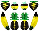 Product review for 8-piece Complete Jamaican Honeycomb Fruit Party Decoration Set (Black / Yellow / Green)