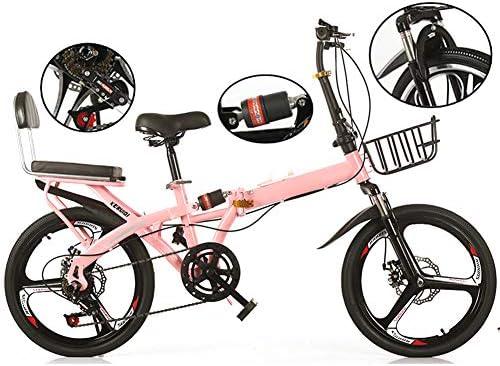 YBZX Bicicleta Plegable de Velocidad Variable de 16 Pulgadas / 20 Pulgadas para Hombres Mujeres Bicicleta Plegable Ultraligera de Trabajo portátil Mini para Estudiantes niños Bicicleta Adulta: Amazon.es: Hogar
