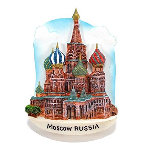 St.Basil's Cathedral MOSCOW Russia Souvenir Fridge Magnet Toy Set 3D Resin Collection ()
