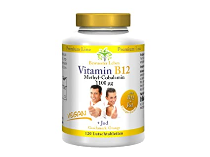 biomenta Vitamina B12 Vegan – 1.100 µg Methyl cobal Amin (Vitamina B12 hochdosiert) +