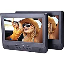 """PROSCAN PDVD1034 10.1"""" Dual-Screen Portable DVD Player (Certified Refurbished)"""