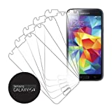 eTECH Collection 5 Pack of Crystal Clear Screen Protectors for Samsung©Galaxy S5 / S V /i9700