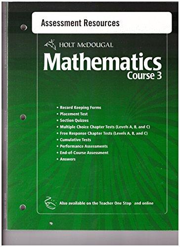 holt-mcdougal-mathematics-course-3-assessment-resources-978-055-400517-1-isbn-0-55-400517-4