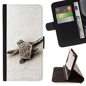 Momo Phone Case / Flip Funda de Cuero Case Cover - Bébé tortue de sable Mignon Sea Marine Animal - LG G4