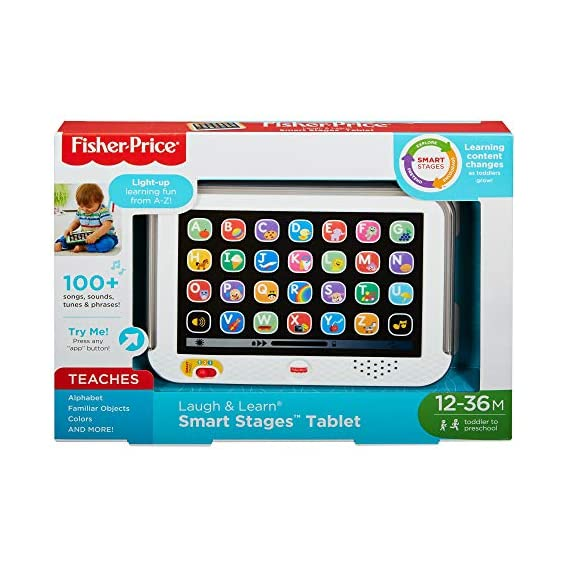 Fisher Price Laugh and Learn Smart Stages Tablet Gray, Multi Color