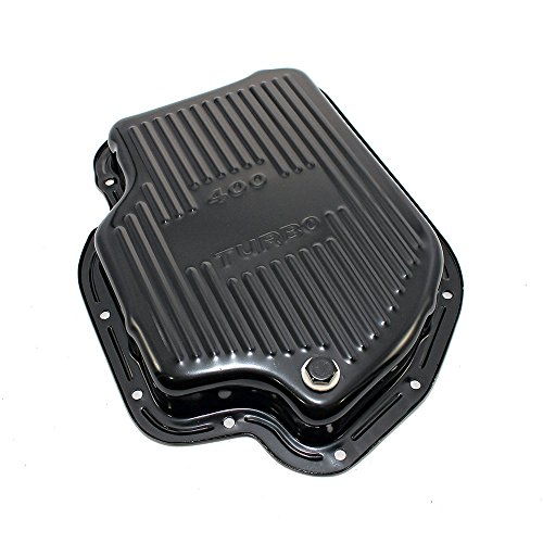 Assault Racing Products A9121PBK GM Chevy Turbo 400 Black Steel Transmission Pan Stock Capacity TH400 ()