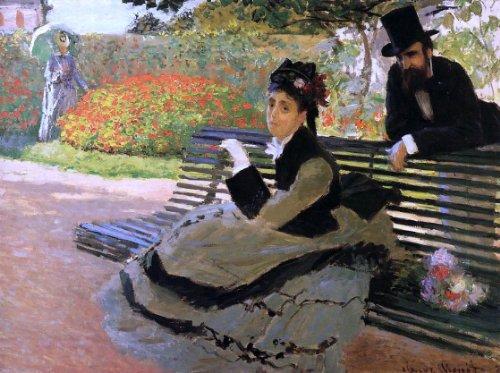 Claude Oscar Monet A Bench (also known as Camille Monet on a Garden Bench) - 21.1