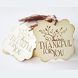 So Thankful For You Gift Tags - Wedding Thanksgiving Party Thank You Favor Tags - Set of 24