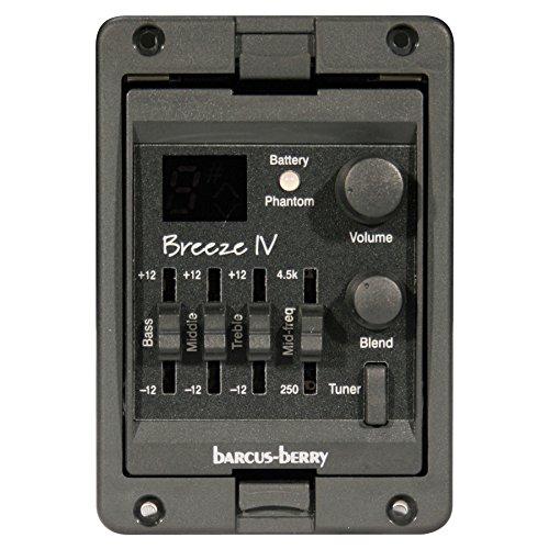 Barcus Berry BREEZEIV Multi-Sensor Acoustic Guitar Preamplifier System
