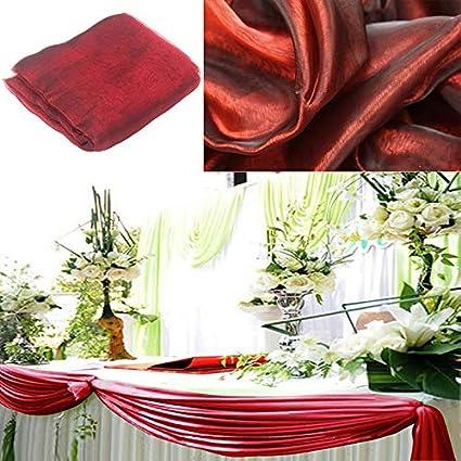 5//10m*1.35m Organza Roll Fabric Wedding Chair Sash Bows Table Runner Party Decor