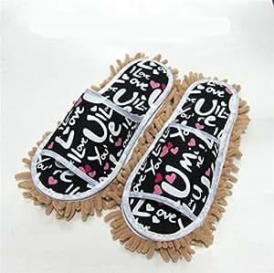 mhgao Ladies Casual algodón Zapatillas la Lazy Clean Zapatillas Doble extraíble y lavable, morado, medium