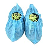 G & F 50 Pairs Disposable Boot Shoe Covers Polypropylene Machine Made 100 Pack Blue One Size Fits All Up to XL