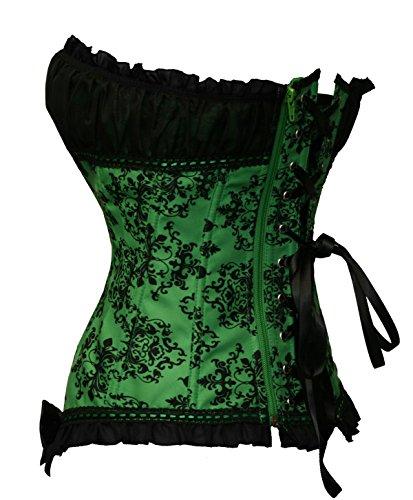 Donne Floreale Bslingerie Nero Green Principessa Gothic Lolita Corsetto gqq5dr