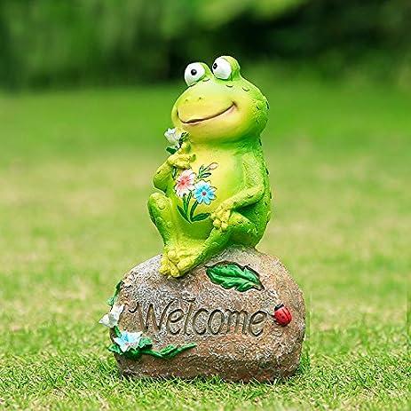 Agirlgle Frog Garden Statue Funny Outdoor Sculpture Resin Lawn Yard  Ornaments Decor   Best Indoor Outdoor