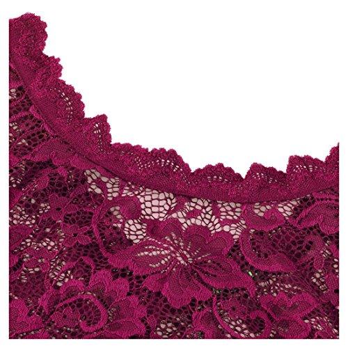 99f01784a6 Miusol Women s Retro Floral Lace Vintage 2 3 Sleeve Slim Ruched Wedding Maxi  Dress