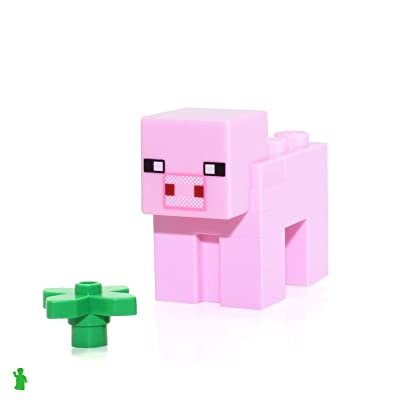 LEGO Minecraft Animal Minifigure - Minecraft Pig (from Set 21115): Toys & Games