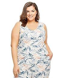 Gloria Vanderbilt Women's Knit Sleep Pajamas - Tank Top Size 3X