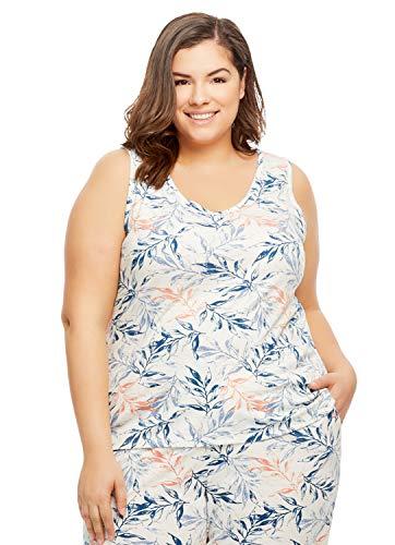 - Gloria Vanderbilt Women's Knit Sleep Pajamas | Tank Top Size 1X
