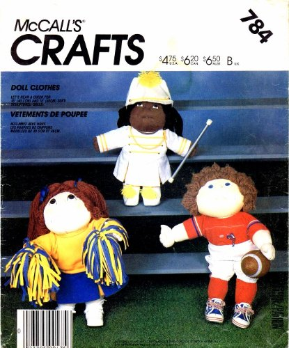 McCall's 784 Crafts Sewing Pattern Soft Sculpture Sporty for sale  Delivered anywhere in USA