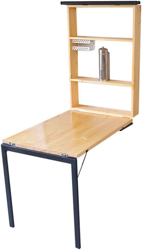 mesa plegable ZHIRONG Madera Maciza montada en la Pared, Estante ...