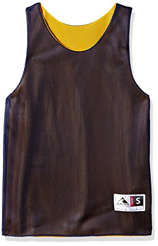 Augusta Sportswear Teen-Boys Youth Reversible Mini Mesh League Tank, Navy/Gold, Large