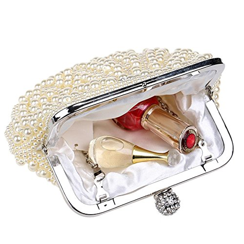 yellow Crystal Shell Handbag Evening X Bag NVBAO Wedding Pearl Party Women's Purses£¬19 14cm wqy1XyI7