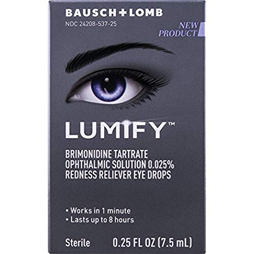 Lumify Redness Reliever Eye Drops, Value Size 3 Pack, 0.25 Ounce Each (3 X 7.5mL) - Redness Reliever Drops