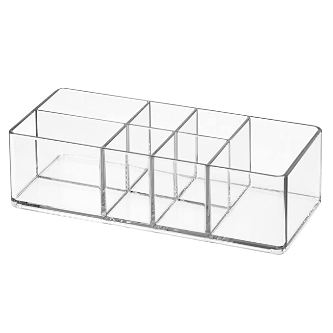 Inter Design Med+ Bathroom Medicine Cabinet Organizer, For Tweezers, Medical Supplies, Contact Lenses, Cotton Balls   Clear by Amazon