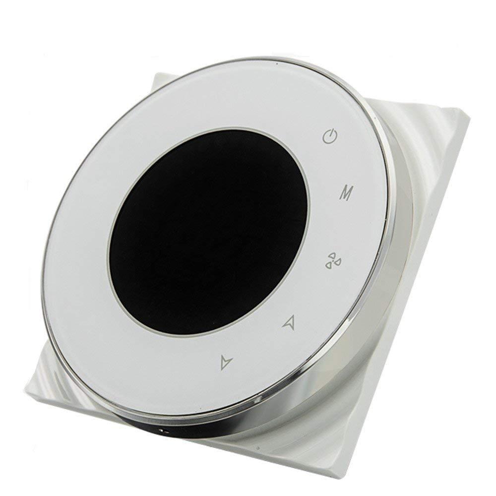 BAC-6000ELW negro BECA 95 ~ 240VAC Tubo de cuatro WiFi programable redondo pantalla t/áctil termostato de aire acondicionado